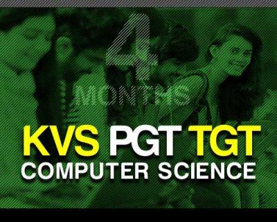 KVS PGT TGT Computer Science (4 Months)