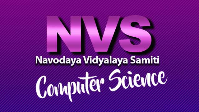 NVS PGT Computer Science